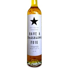 Dazzling New Year 23 carat gold flecked olive oil