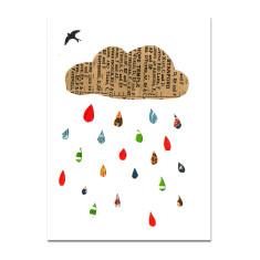 Raincloud blank greeting card
