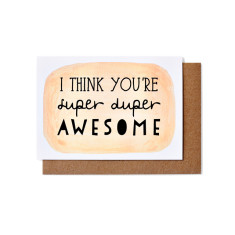 Super duper awesome greeting cards (pack of 5)