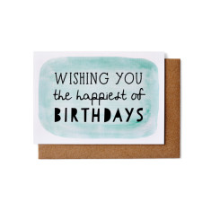Happiest birthday greeting cards (pack of 5)
