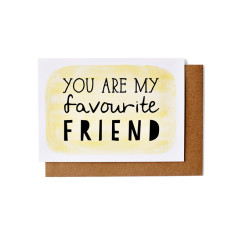 Favourite friend greeting cards (pack of five)