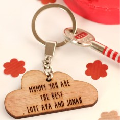 Personalised Cloud Key Ring - In Your Own Words