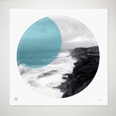 Coastal walk Clovelly circle print