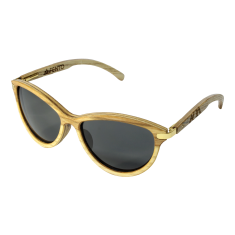 Fento wooden sunglasses in Lega Ash Gold Grey