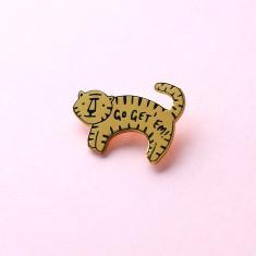 Go Get Em Tiger Enamel Pin
