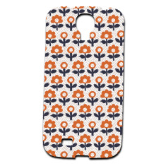 Orange flower Samsung Galaxy S4 phone cover