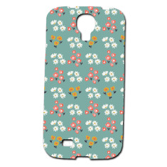 Teal daisies Samsung Galaxy S4 phone cover