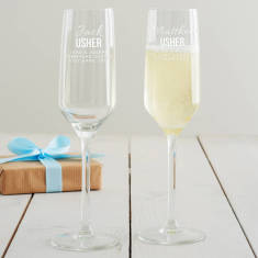 Personalised Usher Champagne Flute