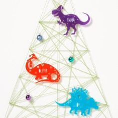 Personalised Christmas Dinosaur Bauble