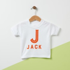 Initial Personalised Baby T Shirt