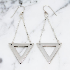 Triangle sterling silver earrings