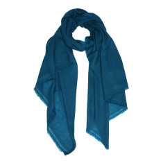 Moye cashmere stole in teal blue