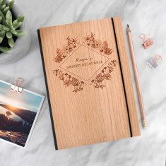 Personalised Wooden Gratitude Journal