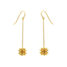 Gold Pollen Drop Earrings