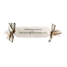 Chocolate and macadamia Christmas pudding 800g log