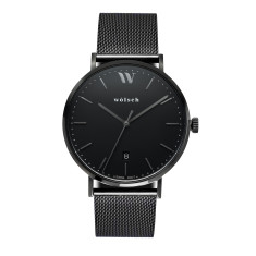 Versa 40 Watch in Black with Black Mesh Band