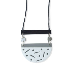 Confetti necklace in black, white, grey