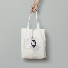 Banksy Monkey Sign Canvas Tote Bag