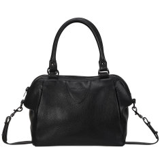 Force of Being leather bag in black
