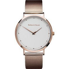 Barbas & Zacari Dawn Rose Gold Steel Mesh Watch - Unisex