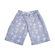 Boys' chlorine-resistant boardshorts in Byron Cloud