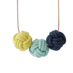 Miami nautical knot necklace