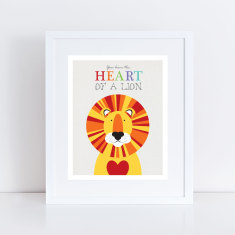 Lion heart nursery art print