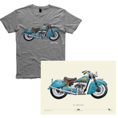 Indian chief motorcycle men's t-shirt + A2 Poster