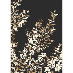Coastal tea tree art print in black