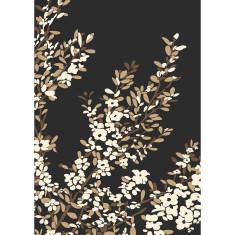 Coastal tea tree art print in black
