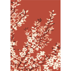 Coastal tea tree art print in desert red