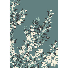 Coastal tea tree art print in teal