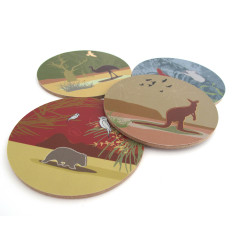 Australian outback coasters (set of 4)