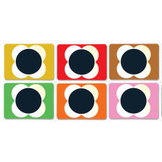 Orla Kiely flower spot coasters set of 6