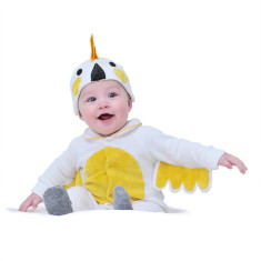 Lil' cockatoo baby and toddler costume with hat