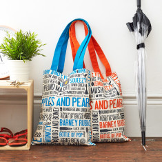 Cockney rhyming slang canvas bag