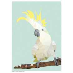 Geometric cockatoo art print