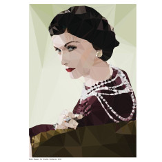 Geometric Coco Chanel art print
