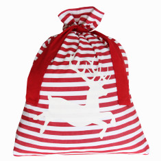 Classic deer Santa sack in red