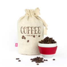 Coffee beans handmade eco storage bag