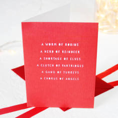 Collective nouns Christmas card packs