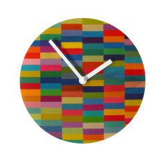 Objectify colour block wall clock
