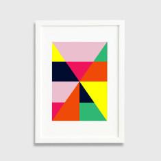 Colour block framed art print