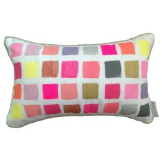 Colour swatch lumbar cushion