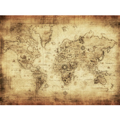 Columbus world map ready to hang canvas art