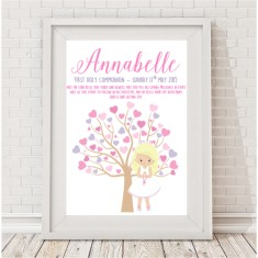 First holy communion personalised print