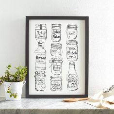 Condiments screen print
