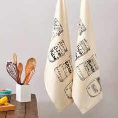 Organic condiments brown sauce tea towels