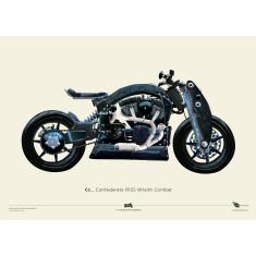 Confederate R135 Wraith Combat motorbike poster