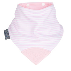Neckerchew dribble bib in Cool Pink print